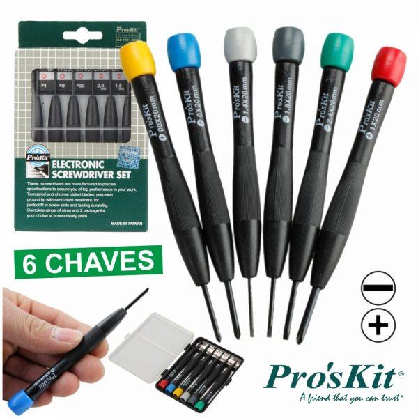 Conjunto De 6 Chaves De Precisão PROSKIT - (8PK-2061)
