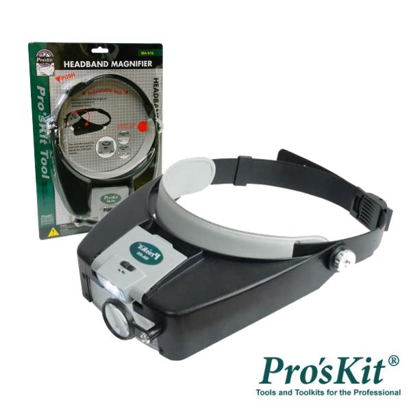 Lupa De Cabeça C/ Iluminação A LED PROSKIT - (MA-016)