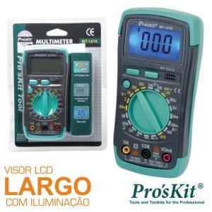 Multímetro Digital 3½ Dígitos Retroiluminado PROSKIT - (MT-1210)