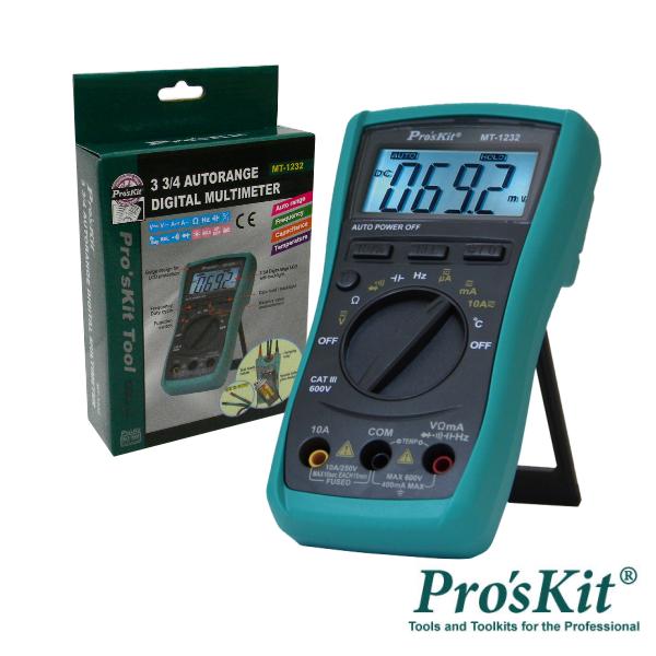 Multímetro Digital 3¾ Dígitos Retroiluminado PROSKIT - (MT-1232)