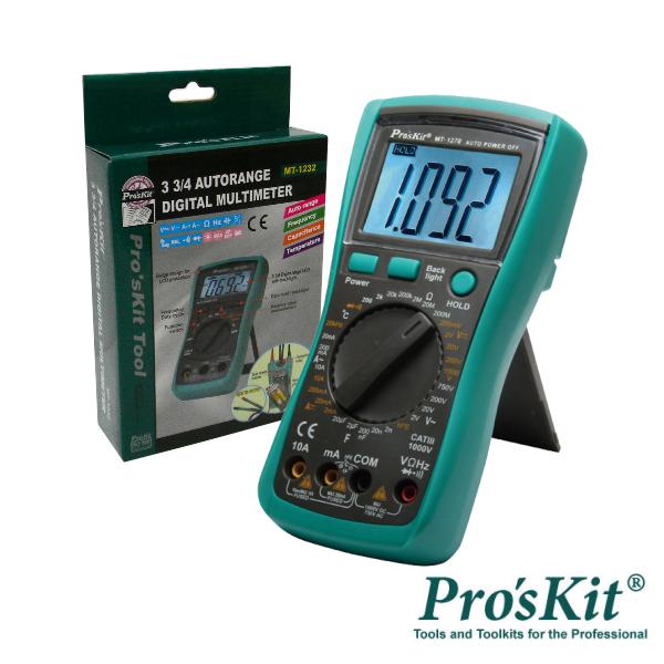 Multímetro Digital 3½ Dígitos Retroiluminado PROSKIT - (MT-1270)