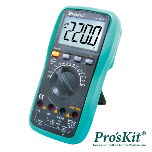 Multímetro Digital 3¾ Dígitos True Rms PROSKIT - (MT-1710)