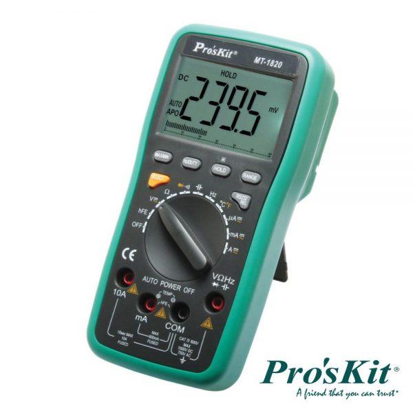 Multímetro Digital 3 5/6 Dígitos Retroiluminado PROSKIT - (MT-1820)