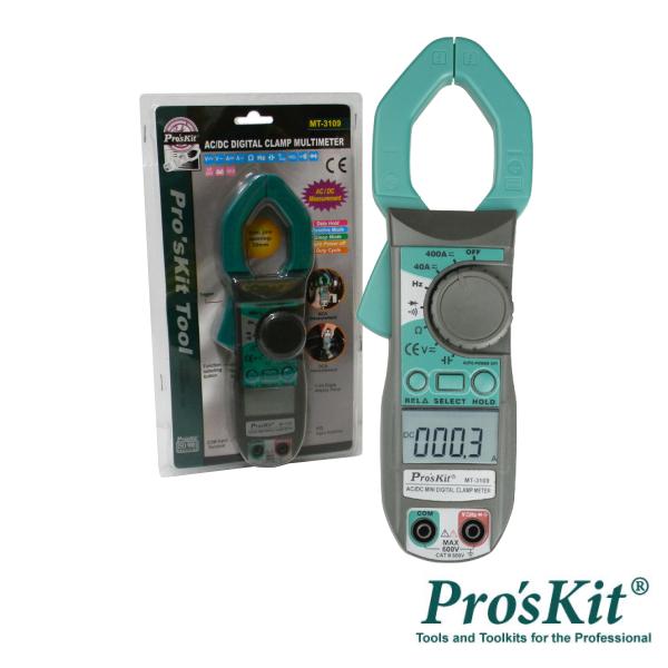 Pinça Amperimétrica Digital AC/DC 400A PROSKIT - (MT-3109)