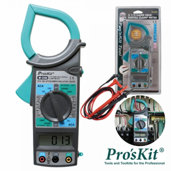 Pinça Amperimétrica Digital AC 750v/1000v PROSKIT - (MT-3266)