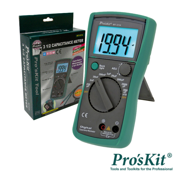 Capacímetro Digital 3 ½ Dígitos Retroiluminado PROSKIT - (MT-5110)