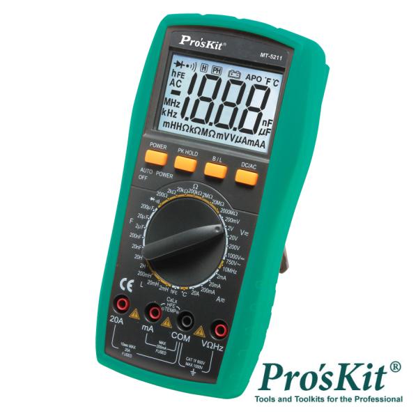 Multímetro Digital 3½ Dígitos Retroiluminado PROSKIT - (MT-5211)