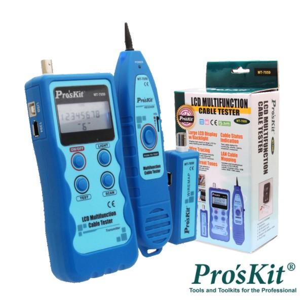 Testador De Cabos/Continuidade C/ Gerador De Tons PROSKIT - (MT-7059)