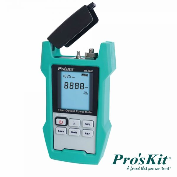 Multímetro C/ Medidor De Fibra Óptica PROSKIT - (MT-7603)