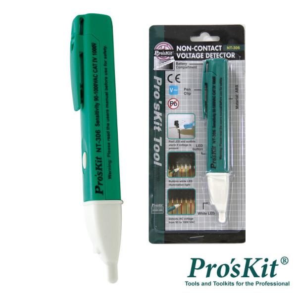 Detetor Tensão S/ Contato C/ Lanterna LED PROSKIT - (NT-306)