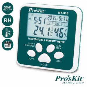Termómetro Digital Multifunções PROSKIT - (NT-316)