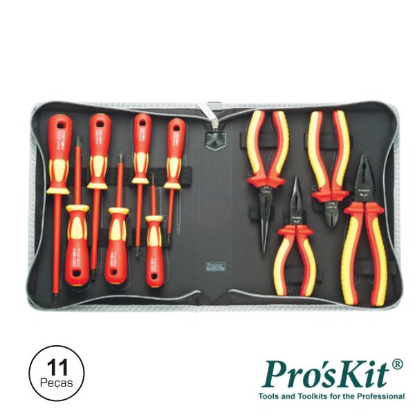 Mala Ferramentas Profissional 11 Peças Isoladas 1000V PROSKI - (PK-2802)