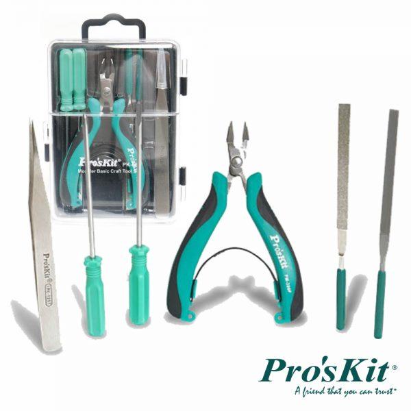 Conjunto De Ferramentas De Modelagem Básica 6x PROSKIT - (PK-601)