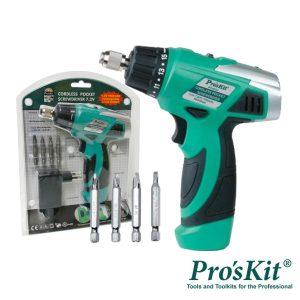 Aparafusadora Elétrica S/ Fios Iluminação LED PROSKIT - (PT-0721F)