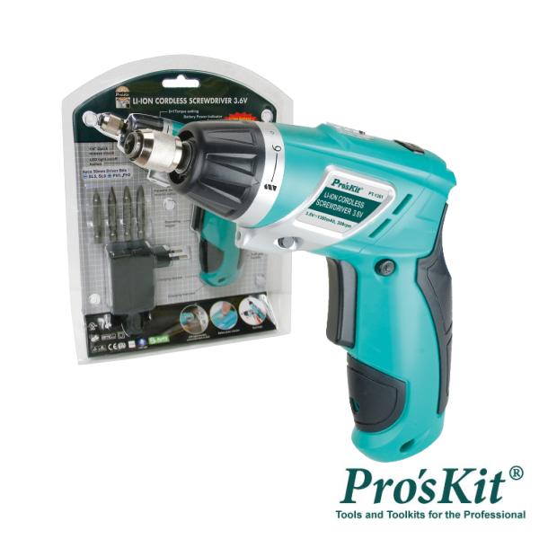 Aparafusadora Elétrica S/ Fios Iluminação LED PROSKIT - (PT-1361F)
