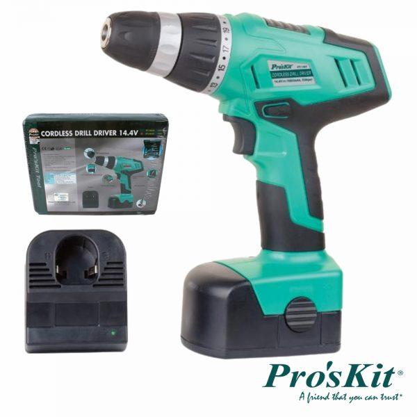 Aparafusadora Elétrica S/ Fios PROSKIT - (PT-1441F)