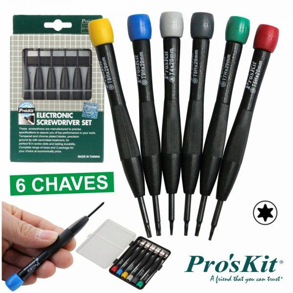 Conjunto De 6 Chaves De Precisão PROSKIT - (SD-3502)