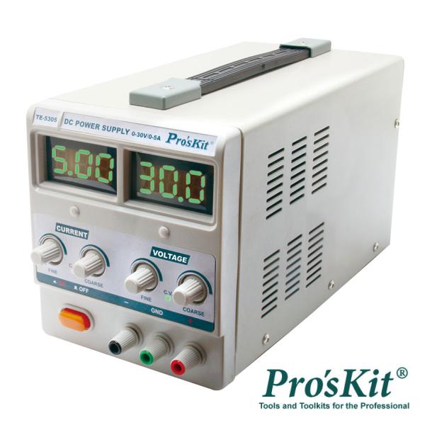 Fonte De Alimentação Digital 0-30V / 0-5A PROSKIT - (TE-5305B)
